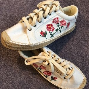 Rose Stitched Soludos Sneaker Espadrilles